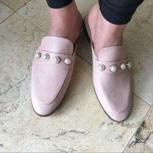 Catherine malandrino Quentin pink pearl mule slide